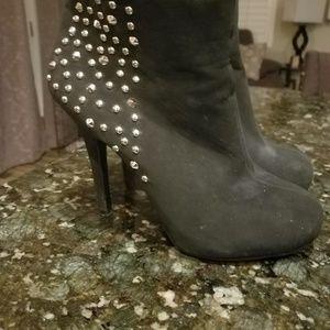 Ankle bootie heels
